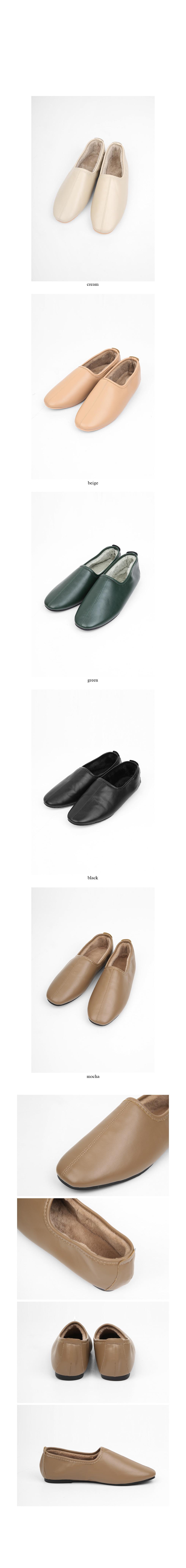 fur flat shoes