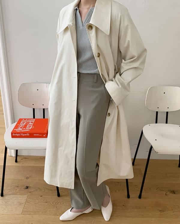 marry buckle trench coat