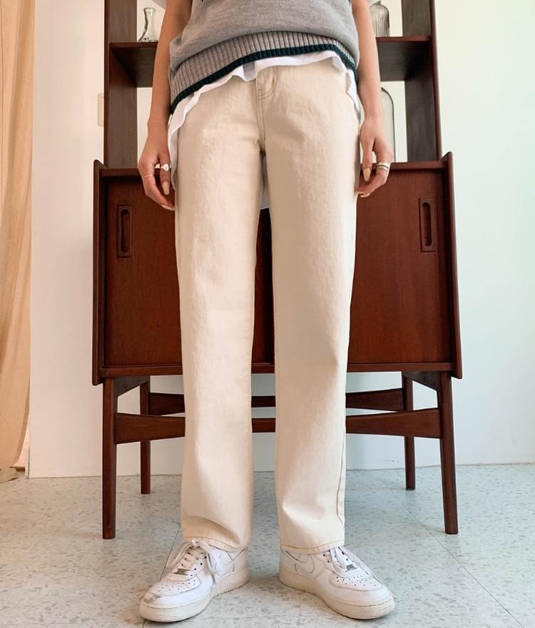312 true cotton straight pants 長褲
