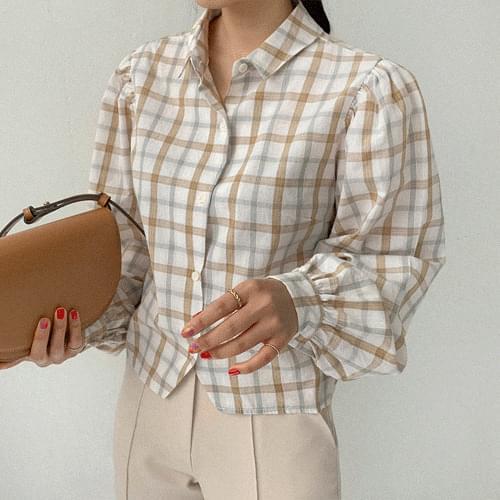 Benin volume check shirt blouses
