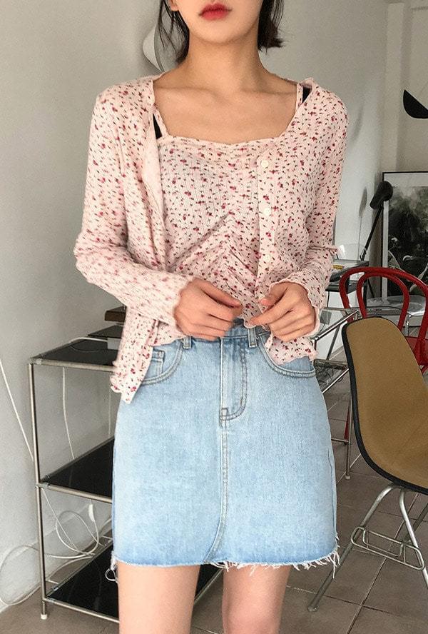 Basic Denim Mini Skirt 裙子