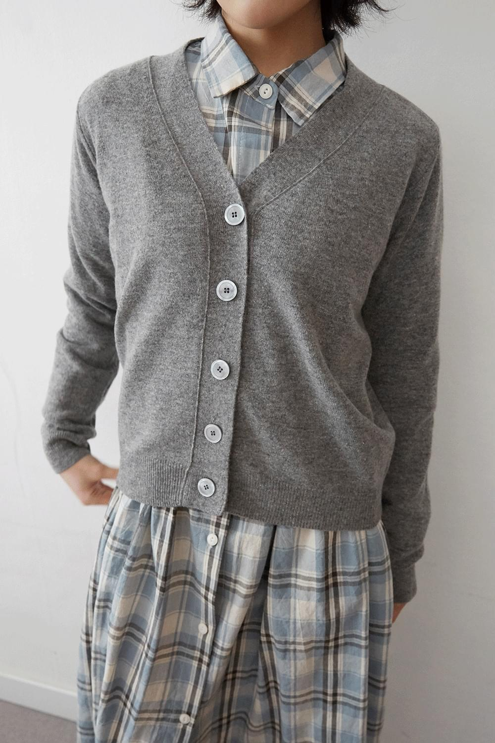 mild clean cardigan (4colors)