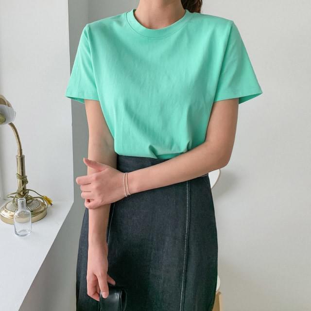 Basic round neck cotton short-sleeved tee 短袖上衣