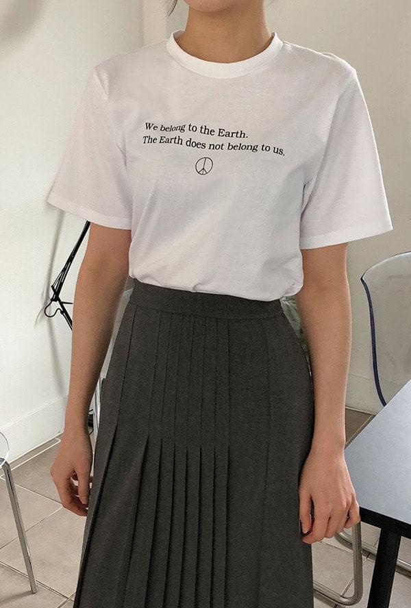 Peace Lettering Short Sleeve T-Shirt 短袖上衣