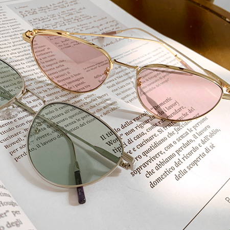 Color point metal sunglasses