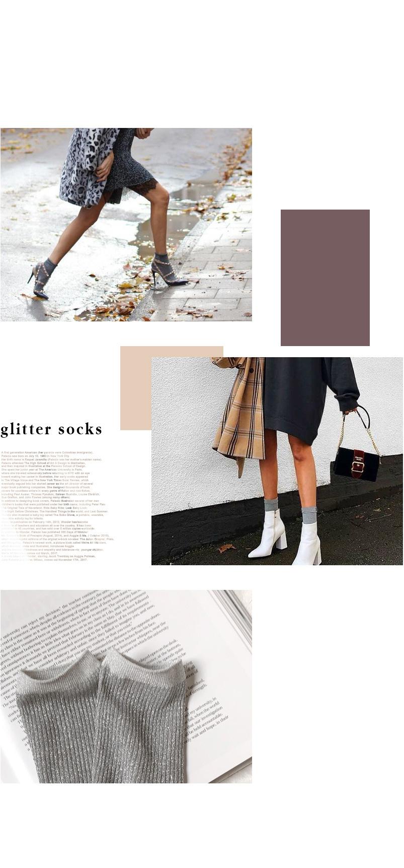 Daily Glitter Point Socks