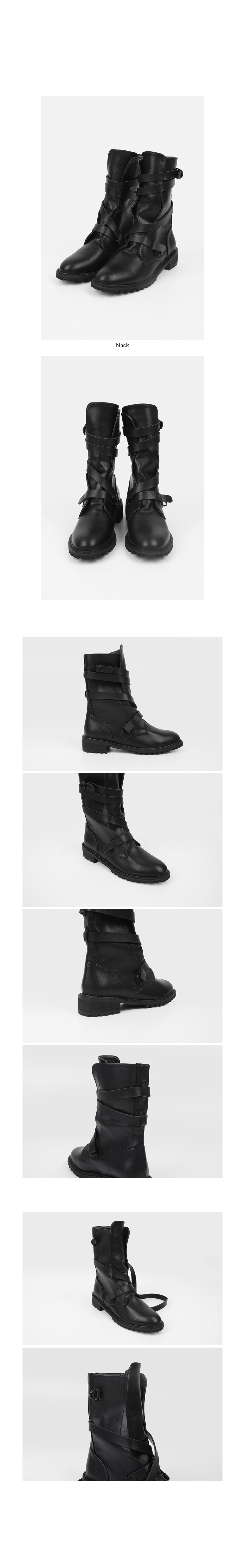 sensual strap midlle boots
