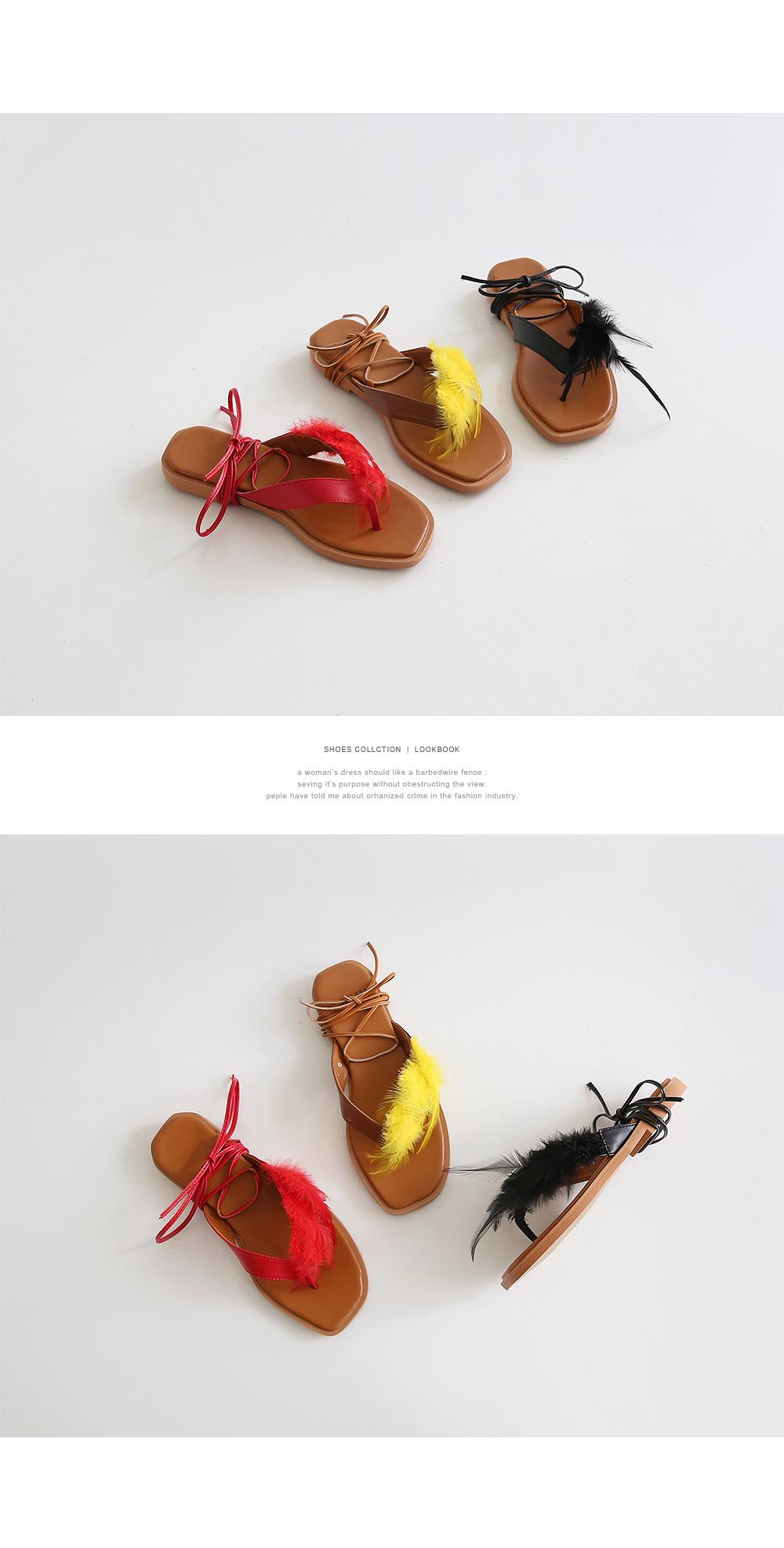 Light feather flip flops1.5cm