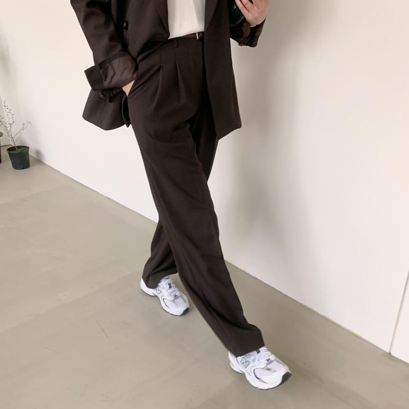 Pintuck day pants blacks browns