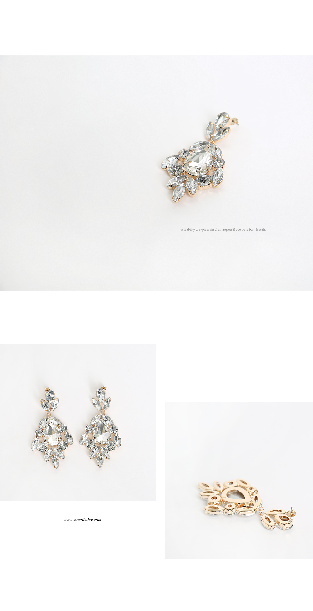 Dripping beads earrings