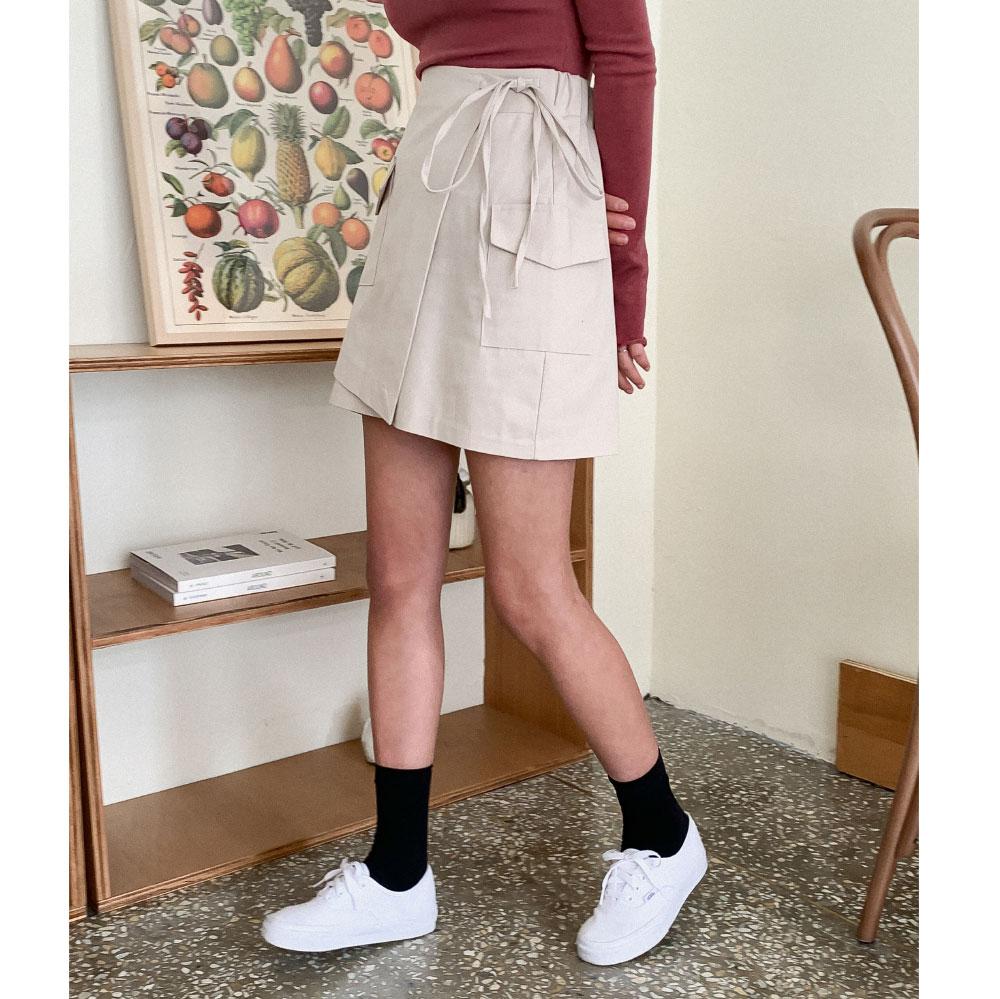 Pastel Mini Wrap Skirt