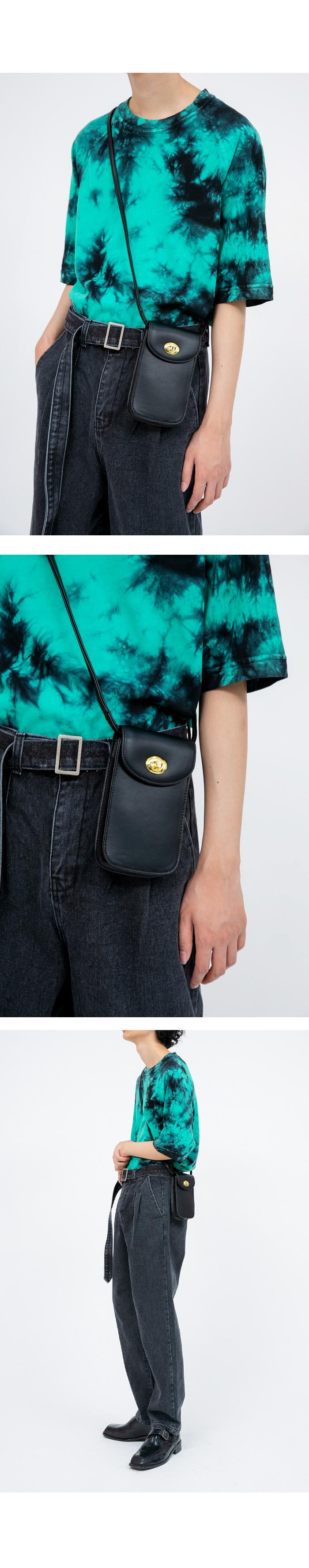 gold buckle mini leather cross bag