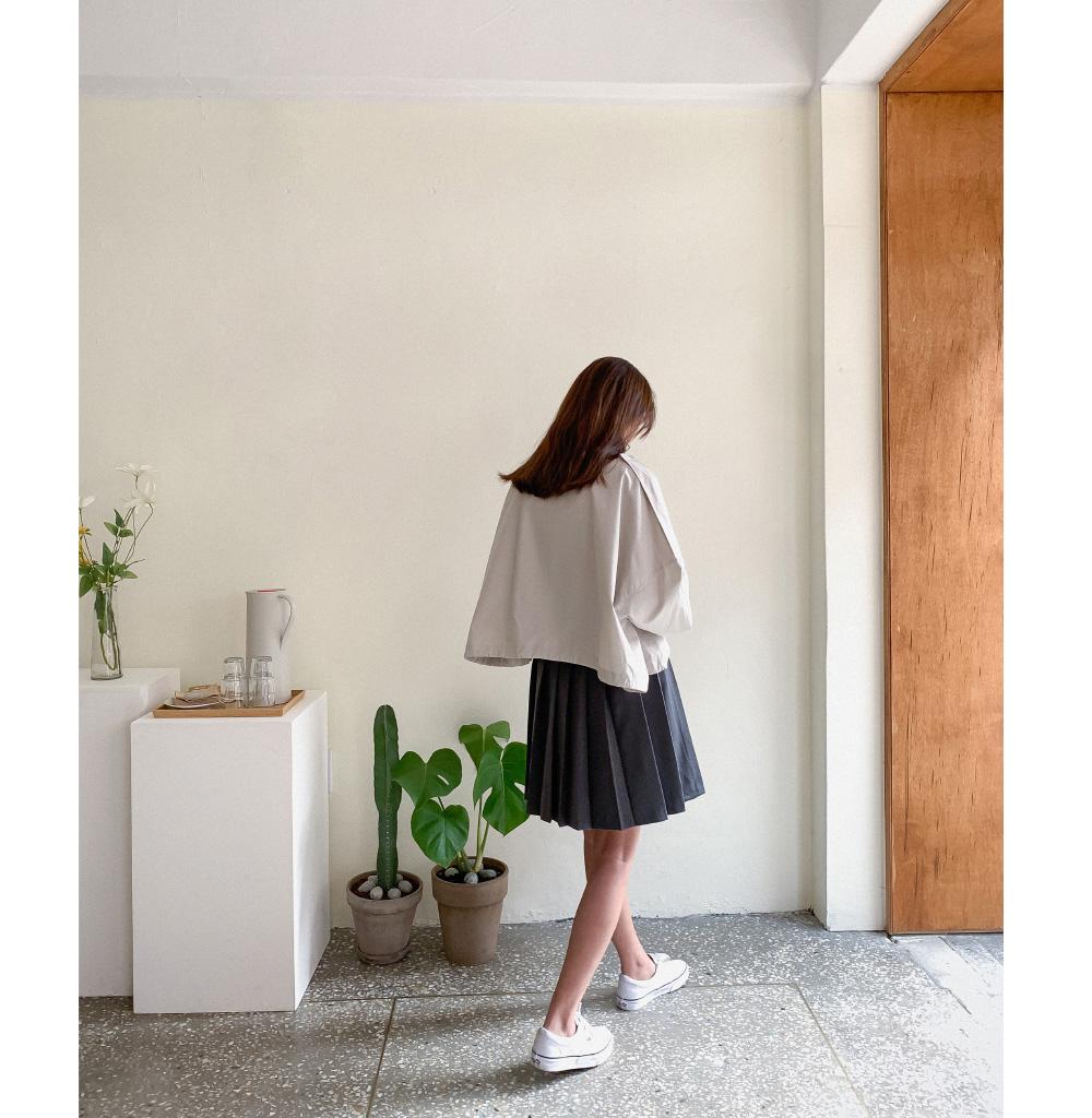 Cotton loose fit short-sleeved jumper