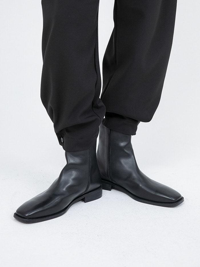 cow hide slim ankle boots - men ブーティ
