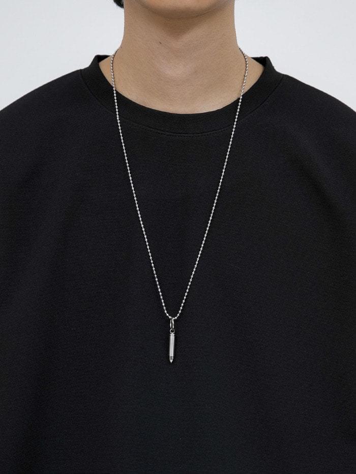 matte bullet necklace