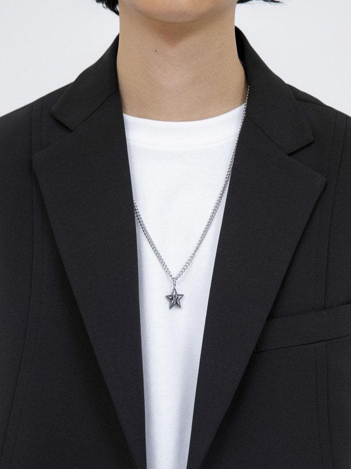 matte star necklace