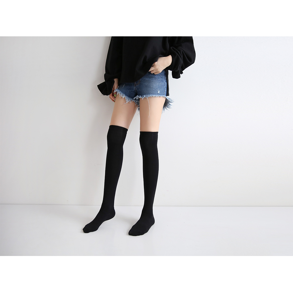 Black over knee socks