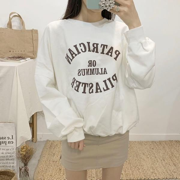 Filaster lettering round neck sweat shirt