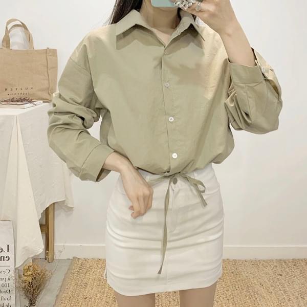 Ticanto string crop shirt 襯衫