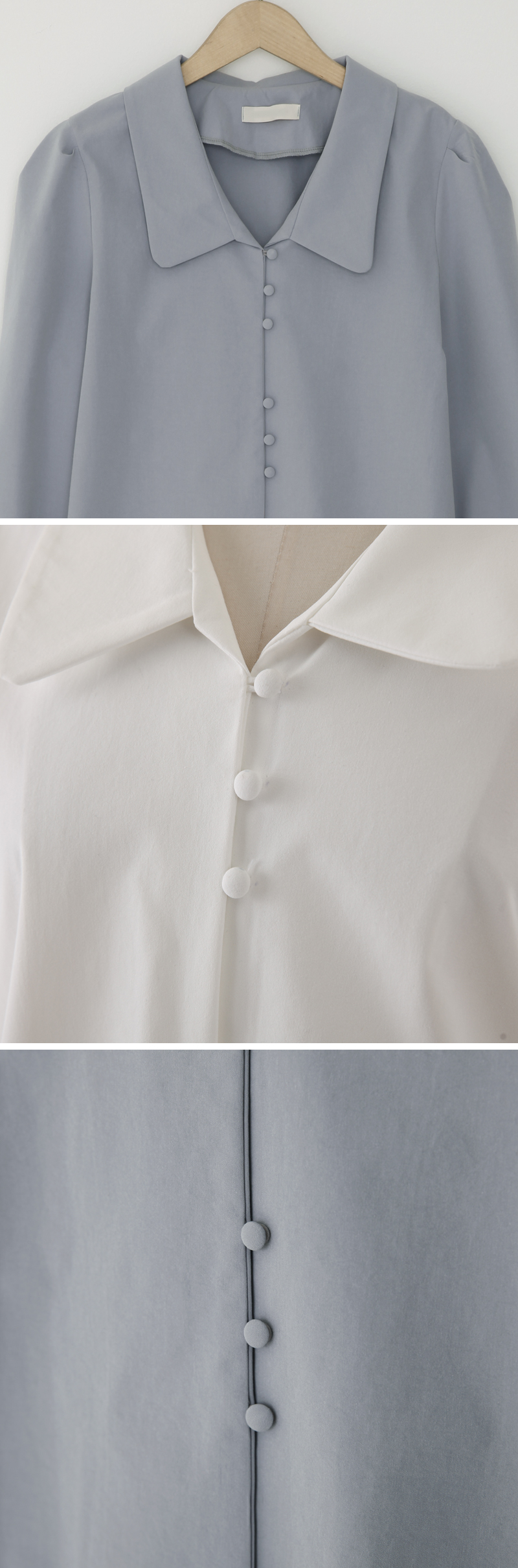 Drop button blouse_C (size : free)