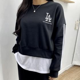 Cropped LA sweat shirt 長袖上衣