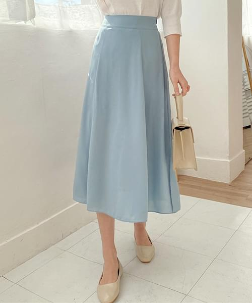 Sky Goddess Fit Chiffon Long Skirt