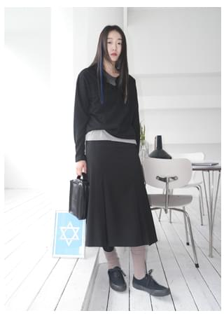 regular pleats midi skirt (2colors)