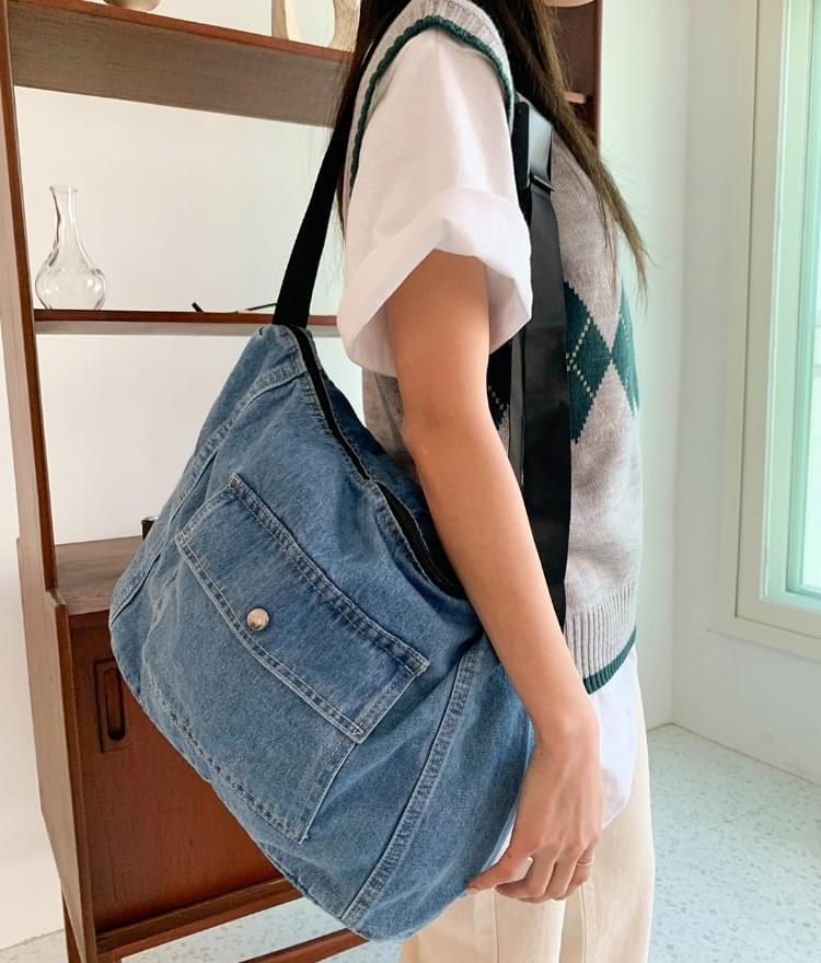 Dandy denim crossbody bag ショルダーバッグ