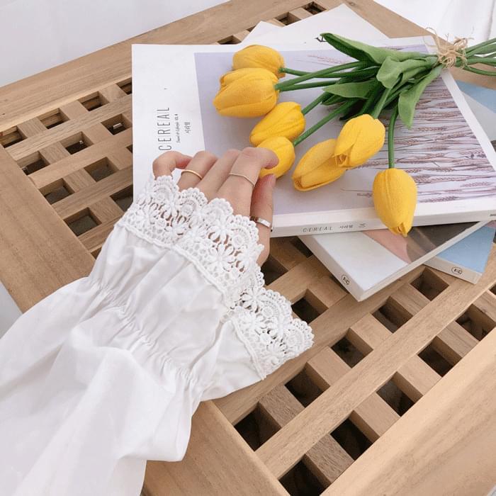 안나 레이스 프릴 셔츠 (bl0237)