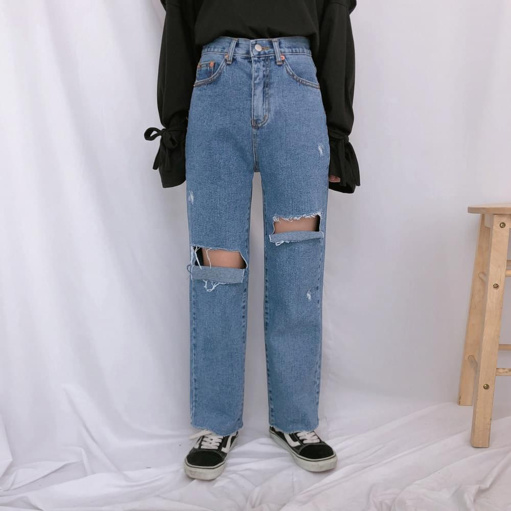 621 open-cut denim pants デニムパンツ