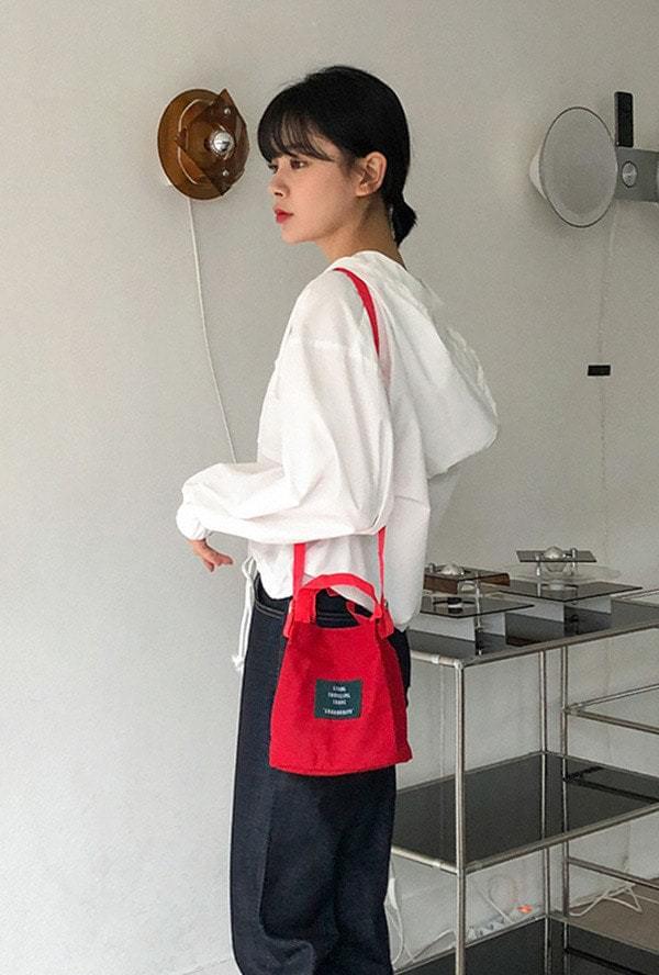 Lettering Mini Canvas Bag 帆布包