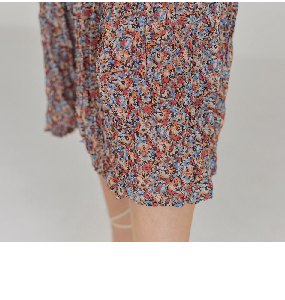 CASIA FLOWER CREASE BANDING SKIRT