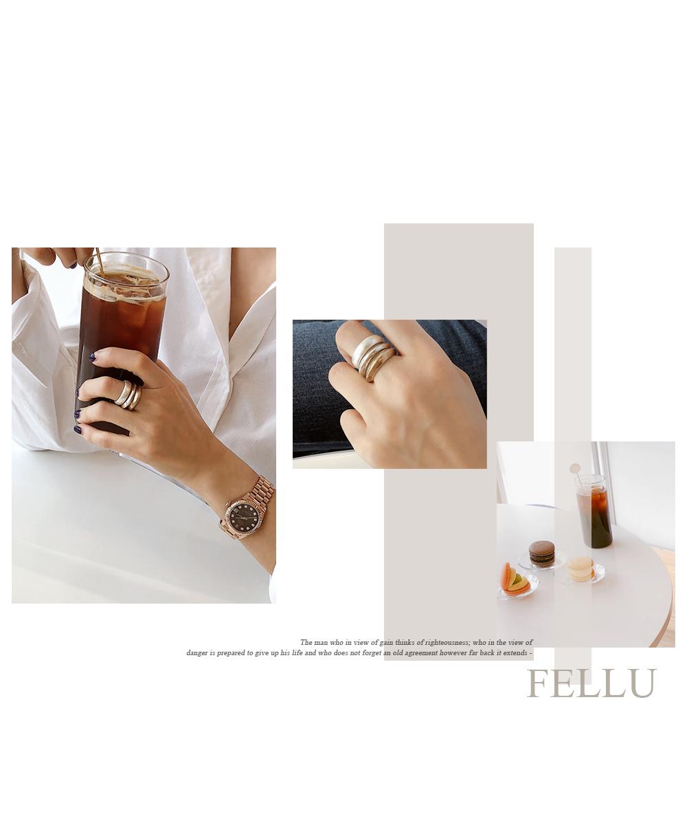 Pelu 3-set Metal Ring