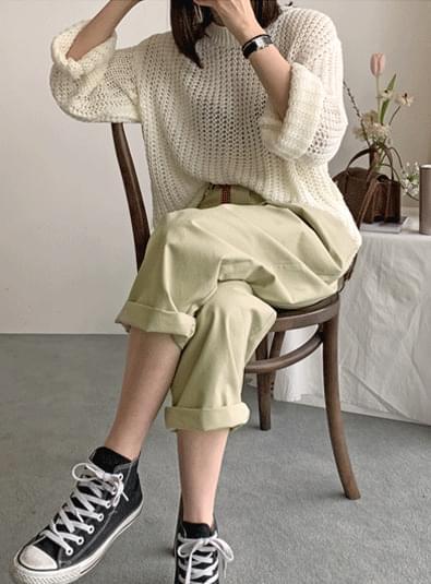 Loose weave knit ニット