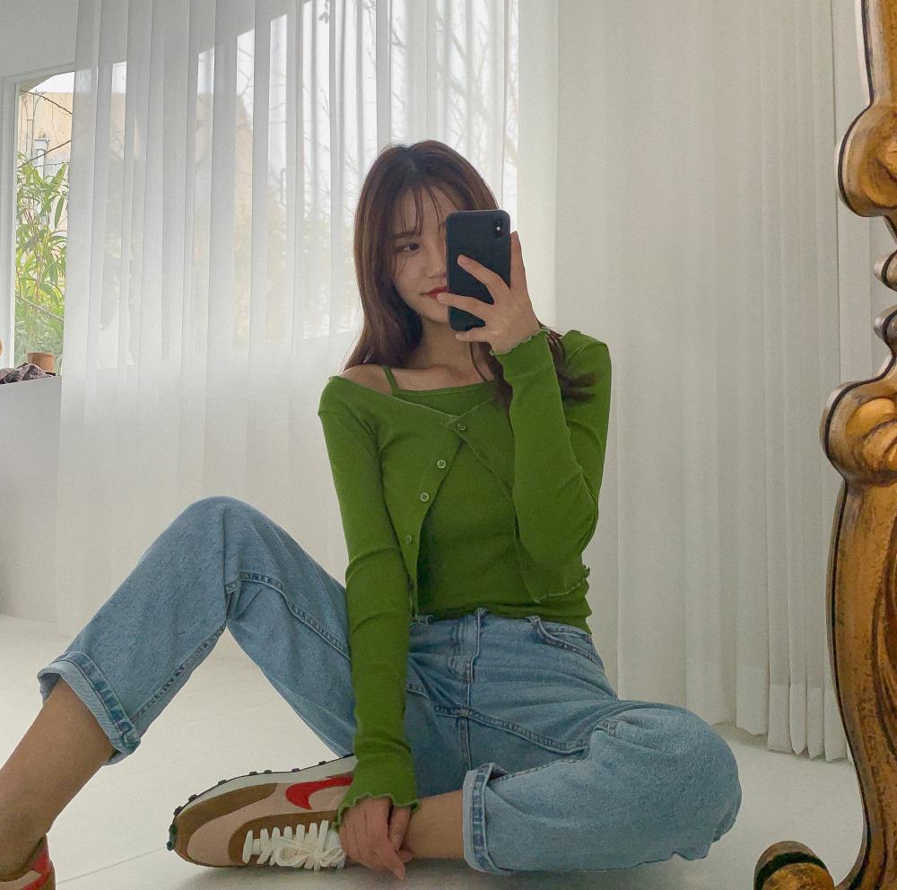 Daily straight denim pants