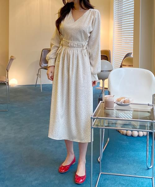 Long dot dress just for you