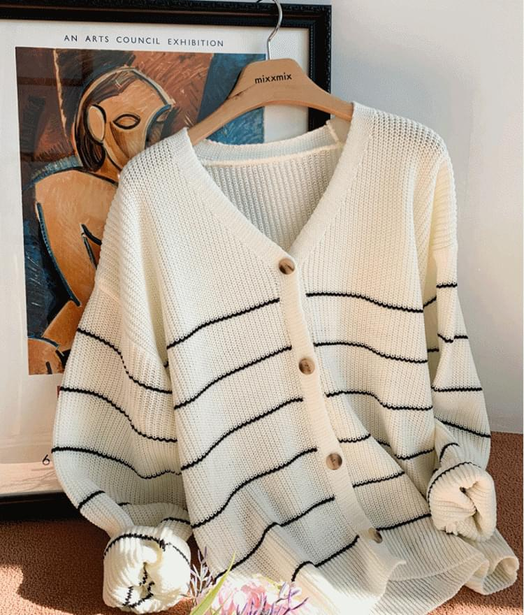 Bellon striped cardigan