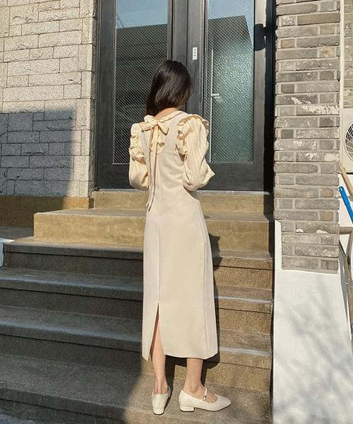韓國空運 - Square Overall One Piece 及膝洋裝