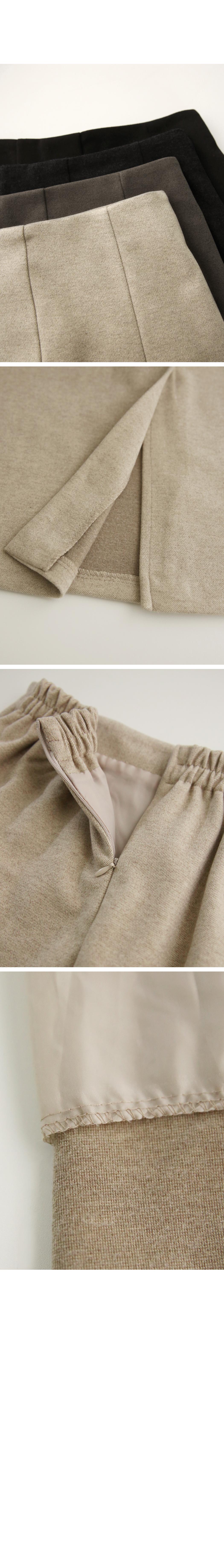 Soft Touch Slit Skirt