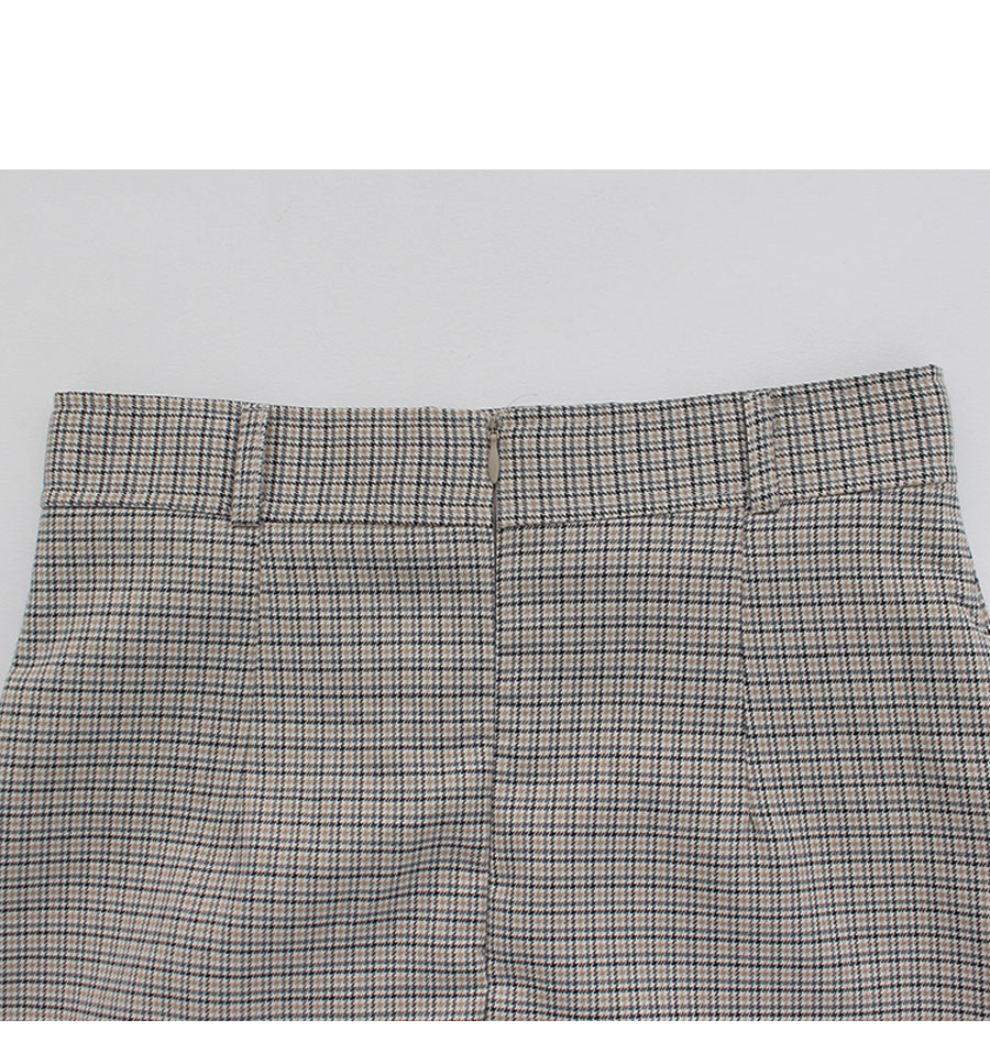 Urban-checked midi skirt