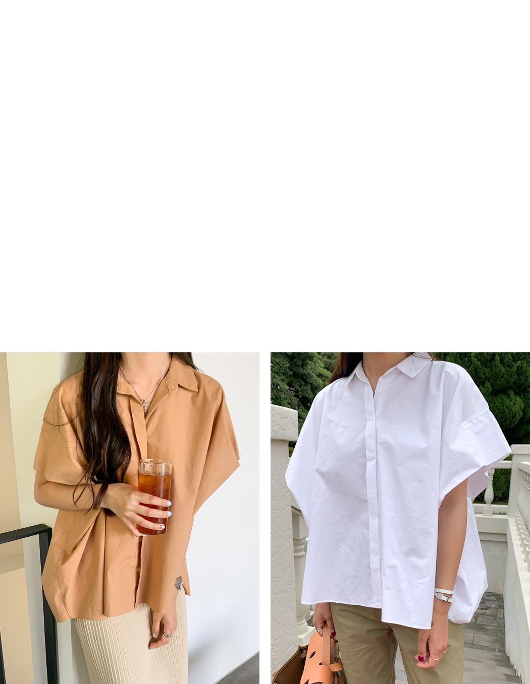 Round Striped Short Sleeve Shirt