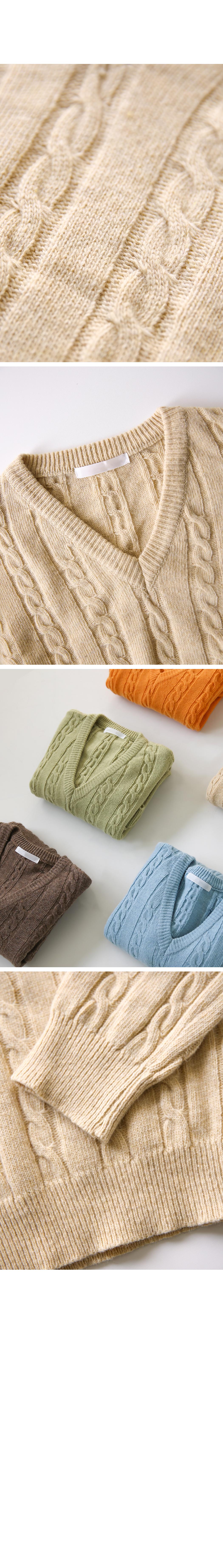 Orange Market Cable Knit
