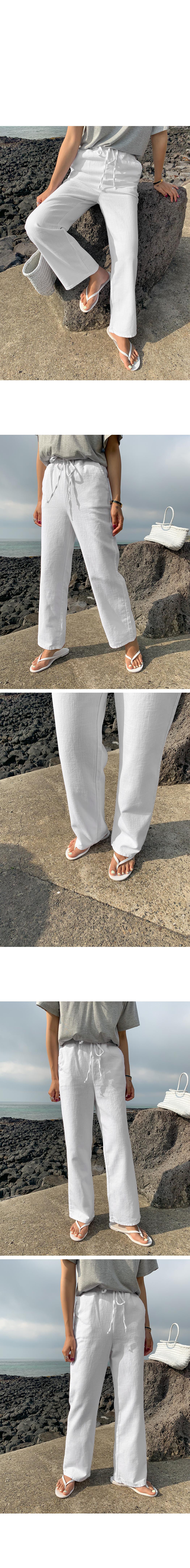 Mild cotton wide banding pants