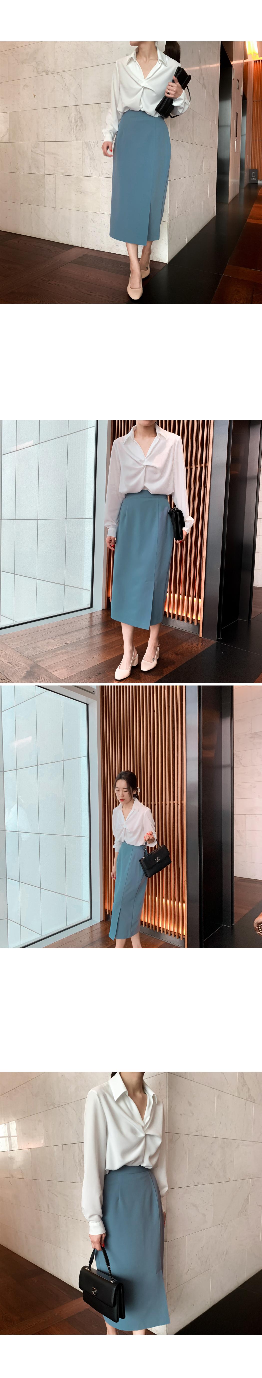 Long slit long skirt