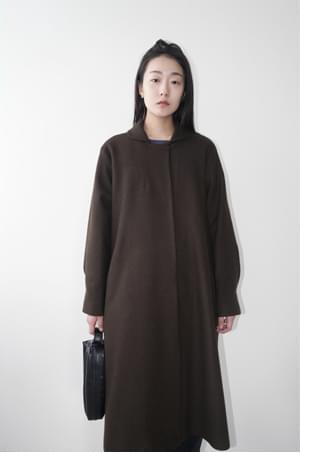round collar maxi coat (2colors)