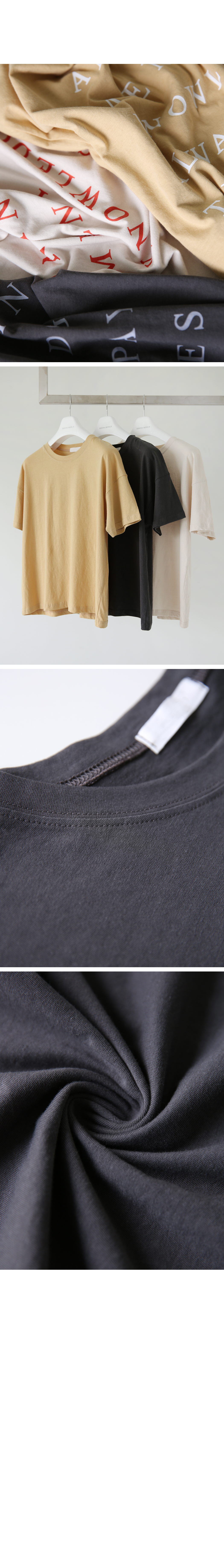'AN INVEST' printing short-sleeved