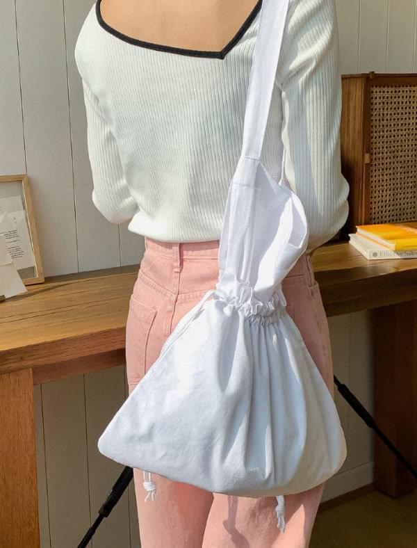 Simple strap double bag Eco bag 帆布包