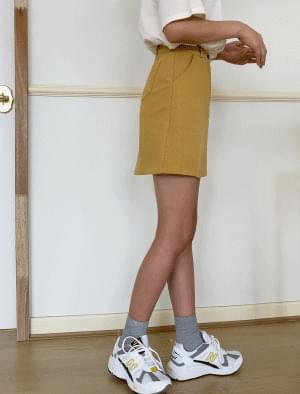 Daily cotton span mini skirt