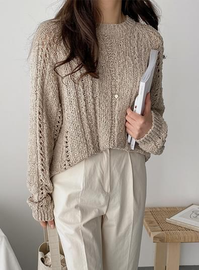 Pretzel see-through knit
