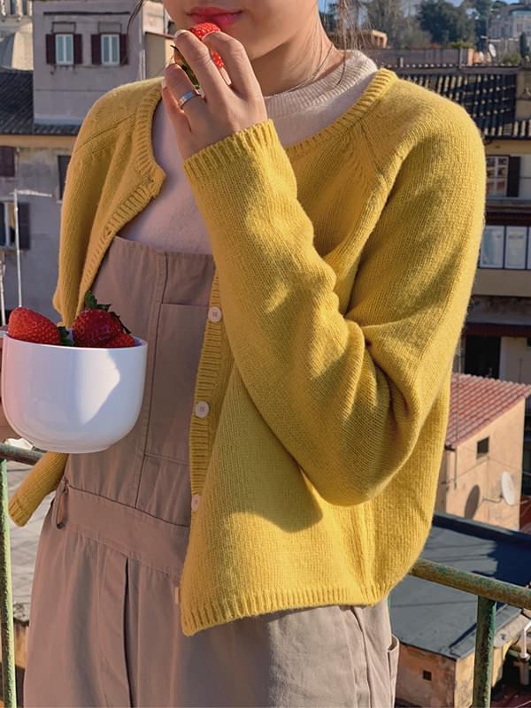 Calendula Fine Wool Semi-Cropped Cardigan 開襟衫